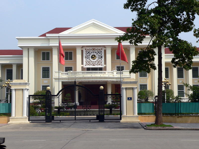 The Russian Embassy, Hanoi. Vietnam stock photo