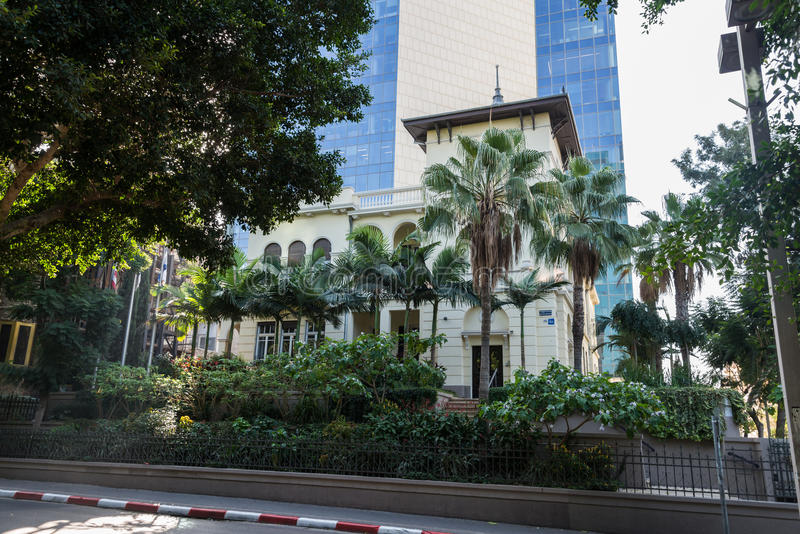 The Russian Embassy house in Tel Aviv. Israel royalty free stock photography