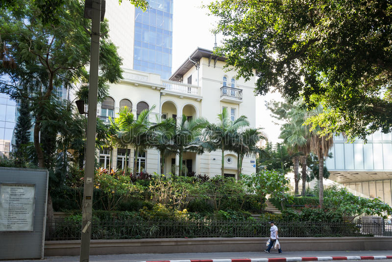 The Russian Embassy house in Tel Aviv. Israel stock photos