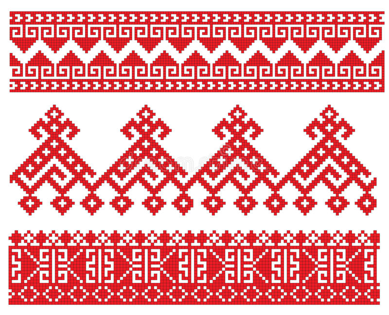 Download Russian embroider old stock vector. Image of pattern - 12783711