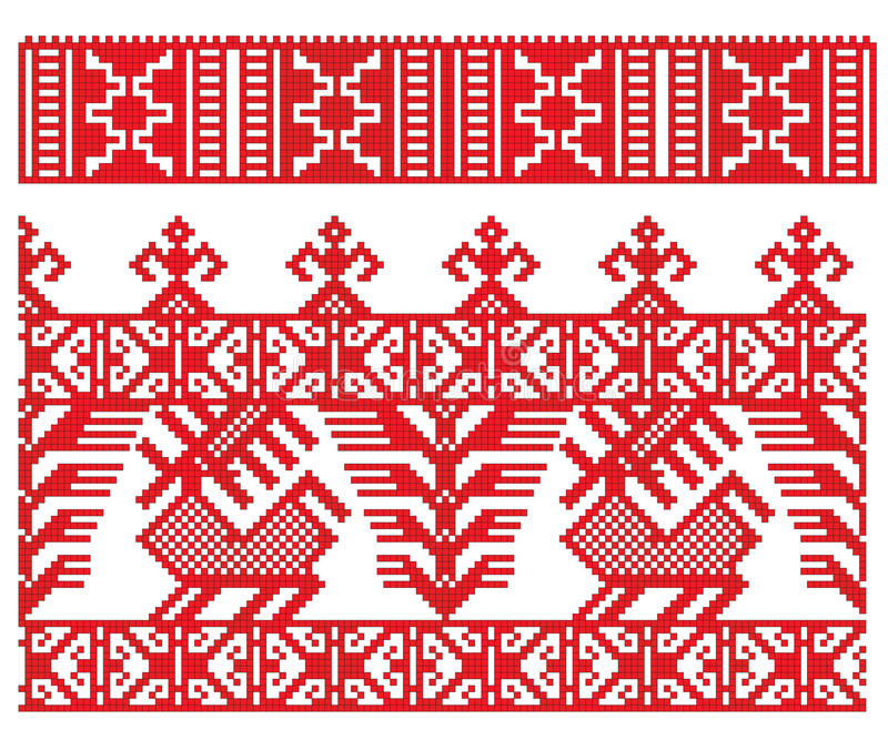 Download Russian embroidery deer stock vector. Illustration of fashion - 12693400