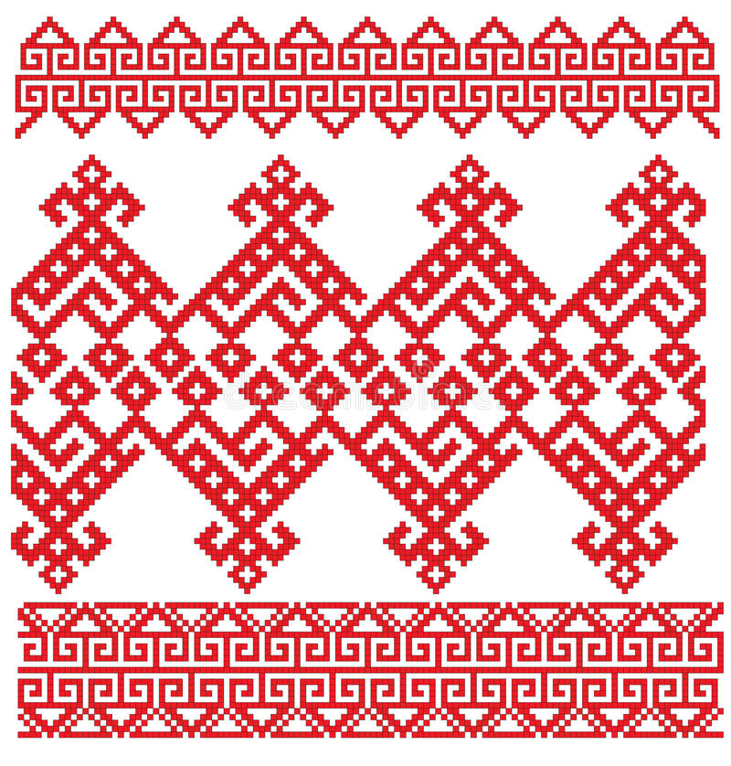 Download Russian embroidery folk stock vector. Illustration of embroidery - 12740248
