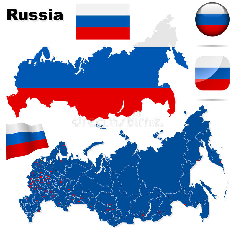 Download Russian Federation   set. stock vector. Image of destinations - 13047221