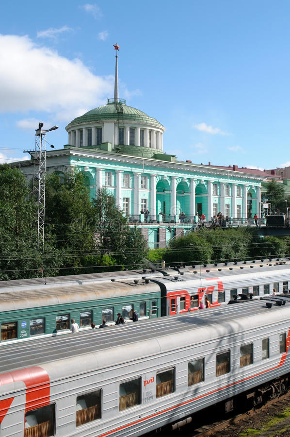 Russian federation. Station sity Murmansk.  royalty free stock images