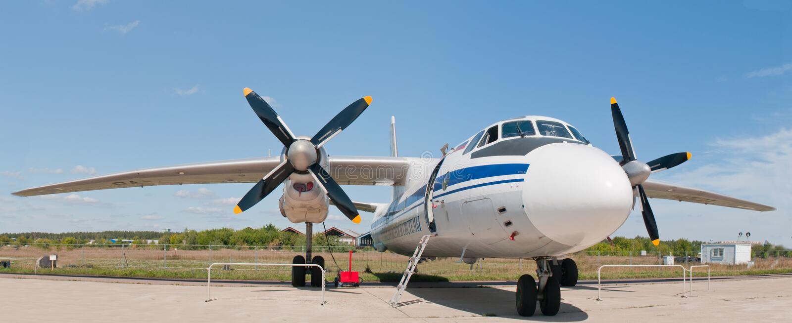 Download Russian Fighter AN-26 stock photo. Image of maks, blue - 20906852