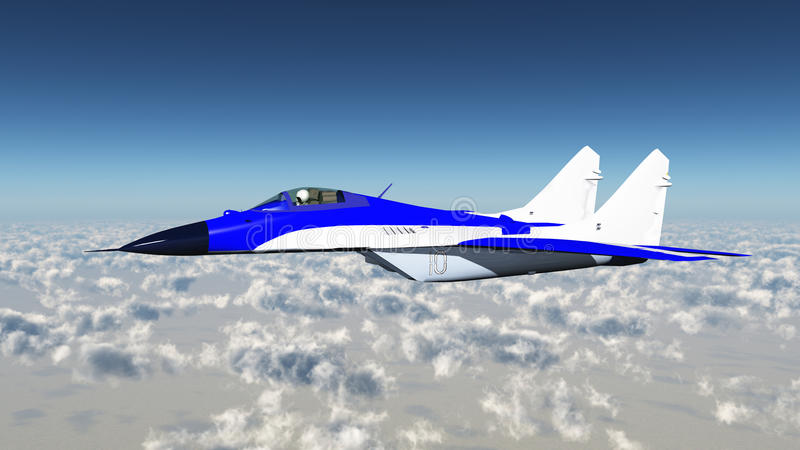 Russian Fighter Plane vector illustration