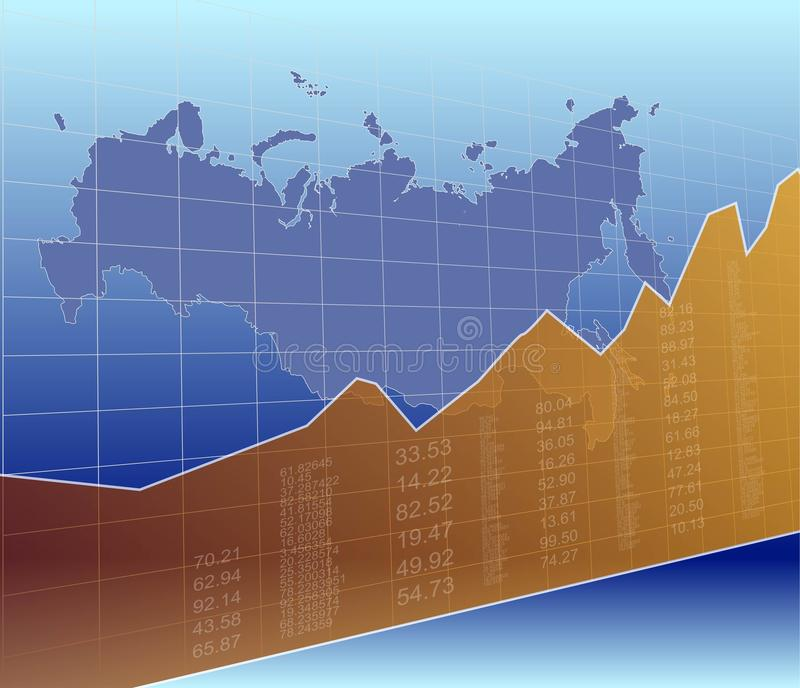 The Russian Finance and Market, Ascending, Success.  royalty free illustration