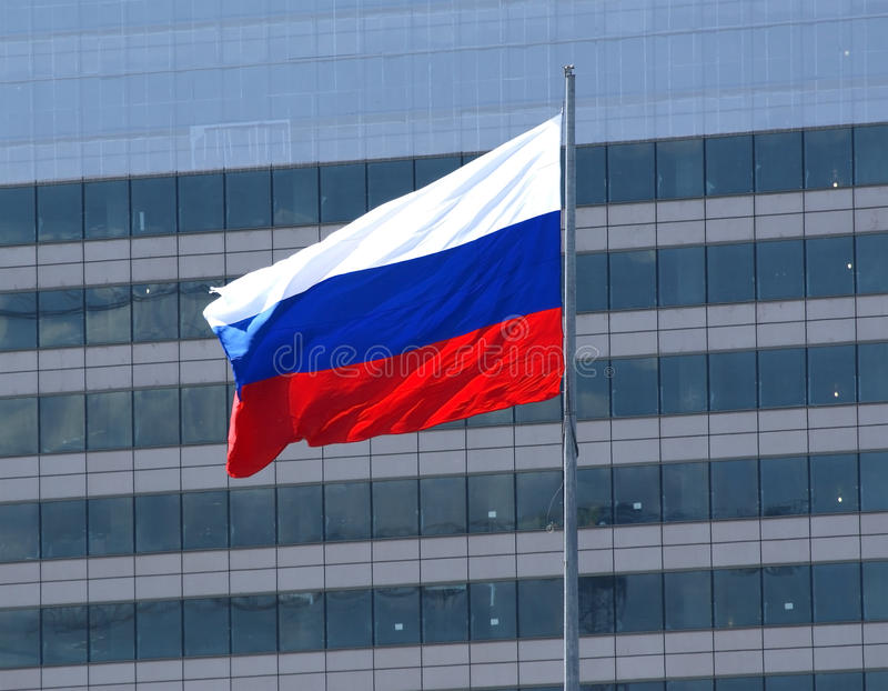Russian flag royalty free stock image