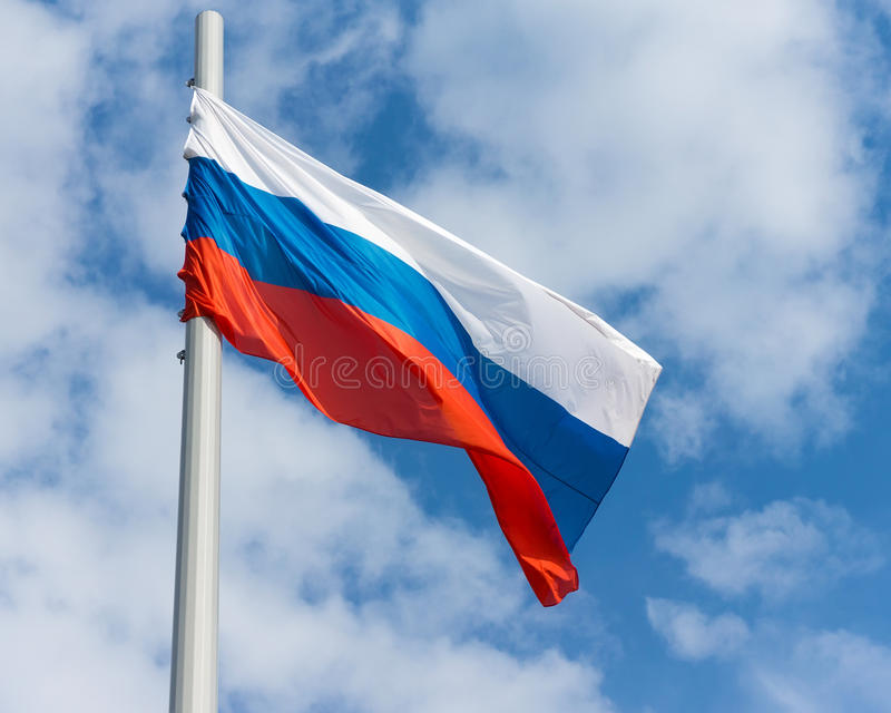 Russian flag royalty free stock photos