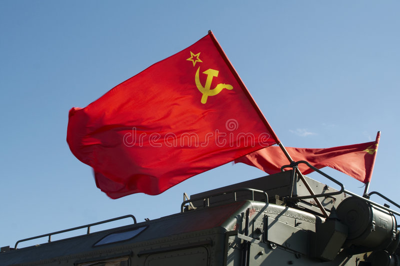 Download Russian Flag Flying On Army Ve Stock Image - Image: 3333417