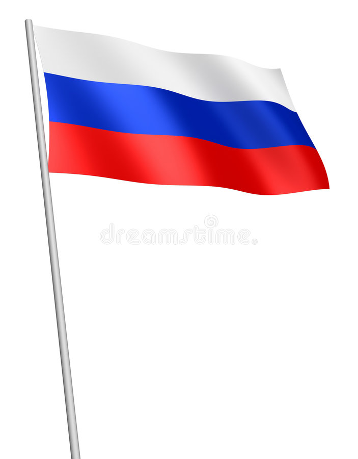 Download Russian flag / isolated stock illustration. Image of illustration - 3549062