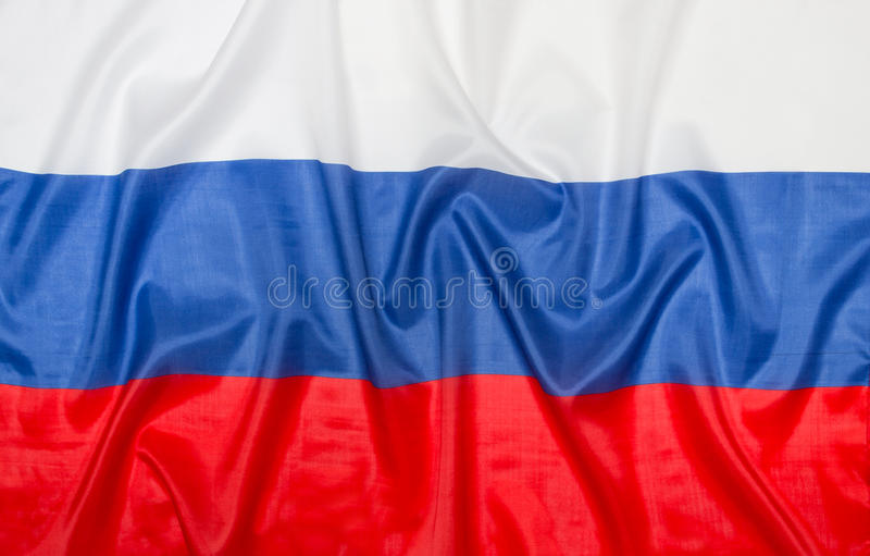 Russian flag Russia stock image