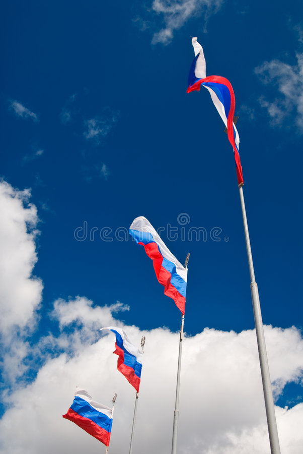 Download Russian flags waving stock image. Image of marine, celebration - 5892425