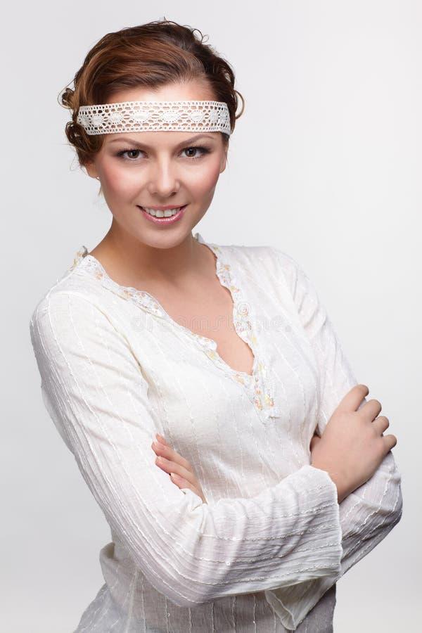 Download Russian folk girl stock photo. Image of emotional, elegance - 20950166
