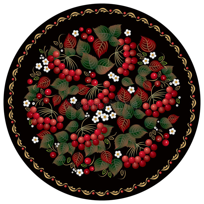 Download Russian Folk Handicraft Painting With Red Stock Vector - Image: 19524625
