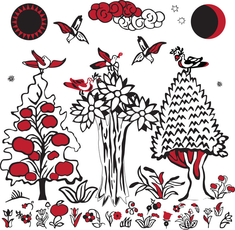 Download Russian folklore image stock vector. Image of decoration - 24002665
