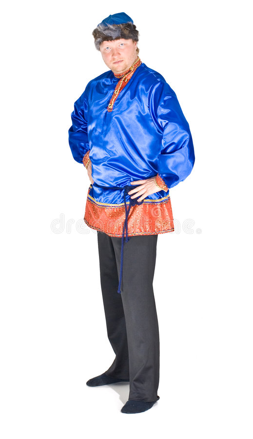 Download Russian folklore man stock photo. Image of satin, attire - 5549558