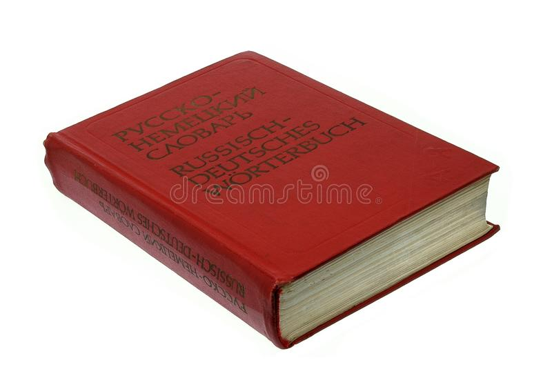 Russian-german dictionary royalty free stock photography