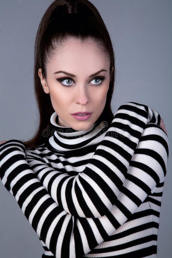 Download Russian girl in turtleneck stock photo. Image of black - 22633888