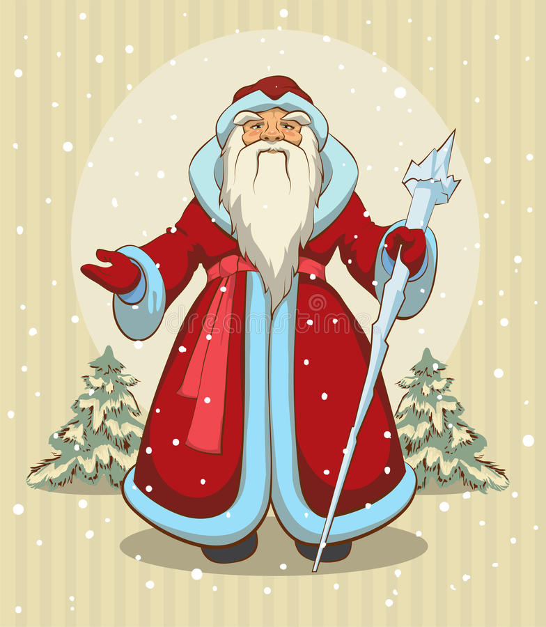 Free Russian Grandfather Frost. Santa Claus Royalty Free Stock Image - 46613346
