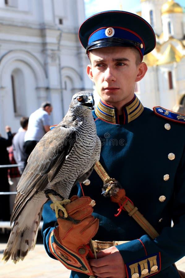 Russian guardian with falcon