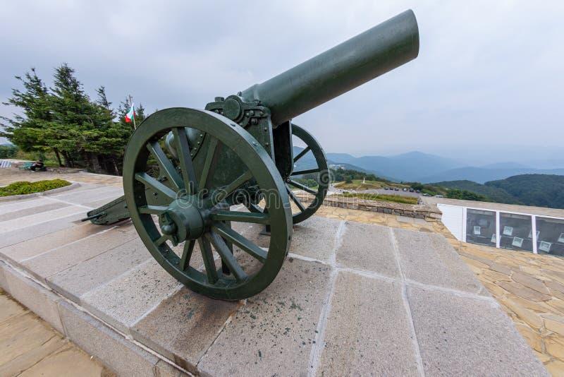 Russian gun in the Balkans royalty free stock images
