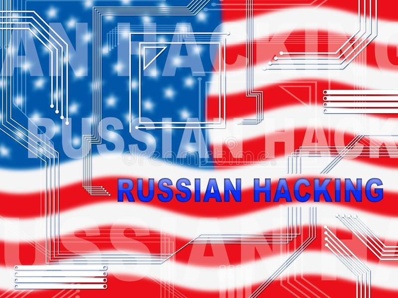 Russian Hacker Moscow Spy Campaign 2d Illustration royalty free illustration