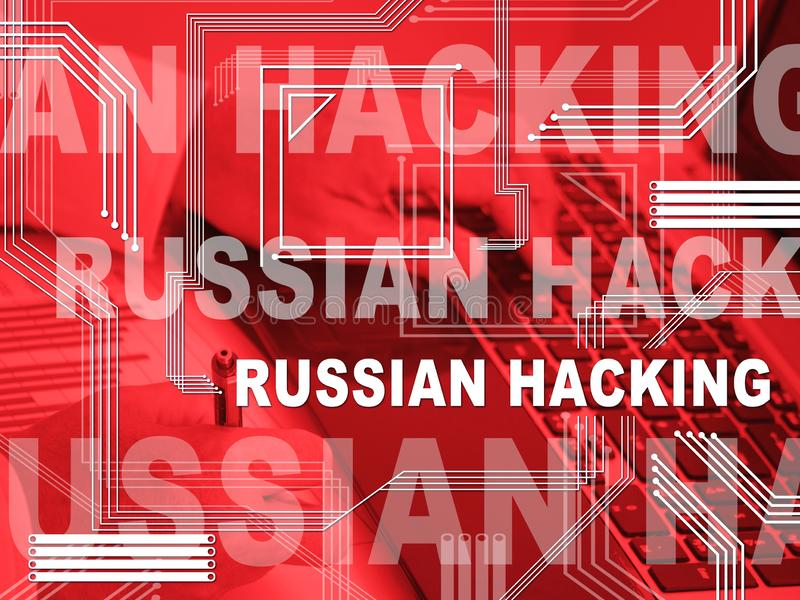 Russian Hacker Moscow Spy Campaign 2d Illustration vector illustration