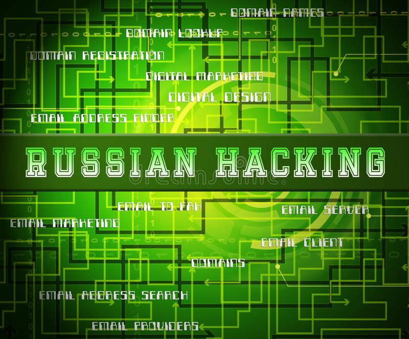 Russian Hacker Moscow Spy Campaign 2d Illustration stock illustration