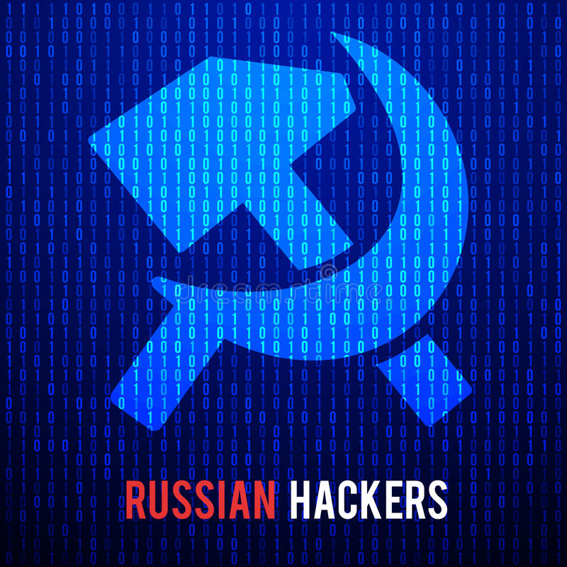 Russian hackers. Abstract Matrix Background royalty free illustration