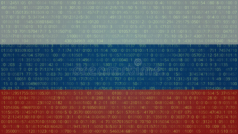 Russian Hackers Abstract Technology Background. Computer Code. V vector illustration