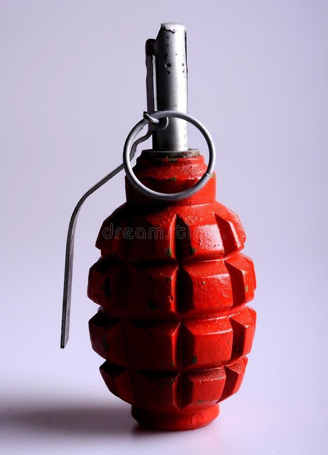 Russian hand grenade. Russian (Soviet) pattern F1 hand grenade, nicknamed the limonka (lemon grenade), is an anti-personnel fragmentation defensive grenade. The stock photos