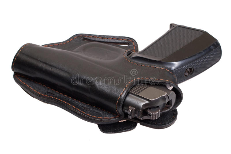 Russian handgun PMM-Makarov in a holster stock photos