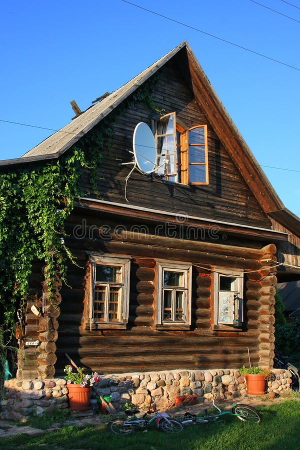 Download Russian House stock image. Image of ecology, antenna - 26470051