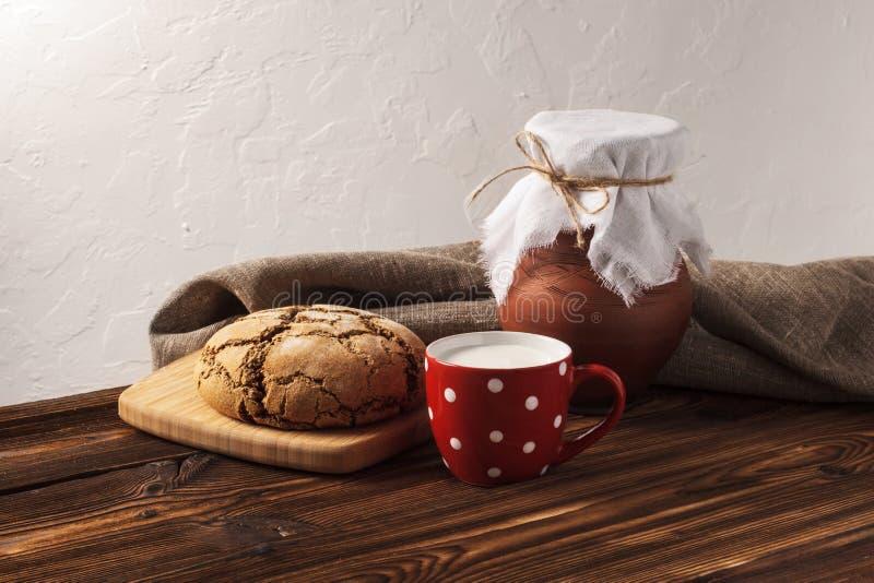 Russian hygge breakfast stock photo