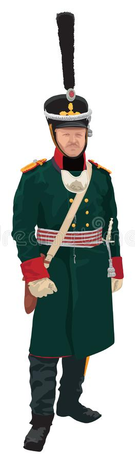 Russian infantry soldier XIX century royalty free illustration