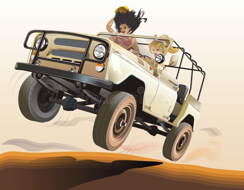 Russian jeep stock illustration