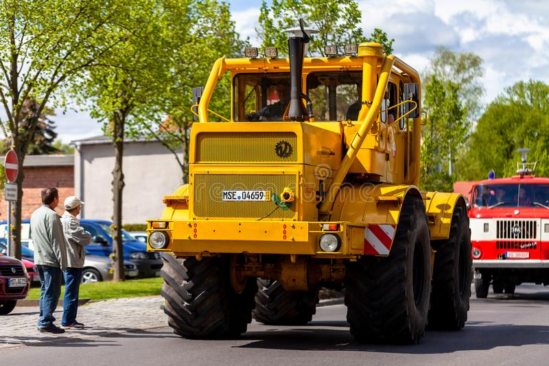 Russian Kirowez K 700A tractor stock image