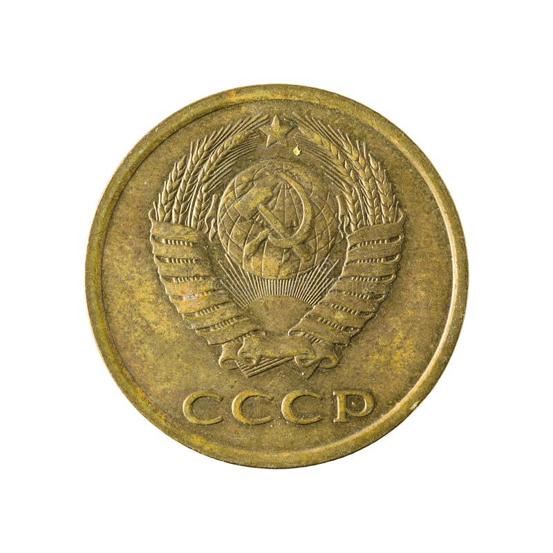 3 russian kopeyka coin 1982 isolated on white background. Specimen stock photo