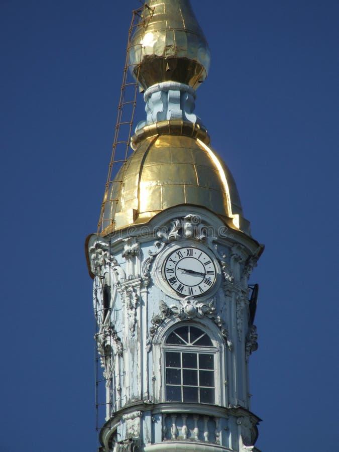 Russian landmark - clock tower royalty free stock images
