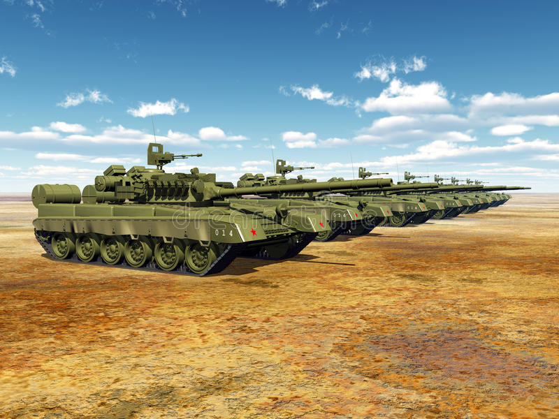 Russian Main Battle Tanks stock illustration