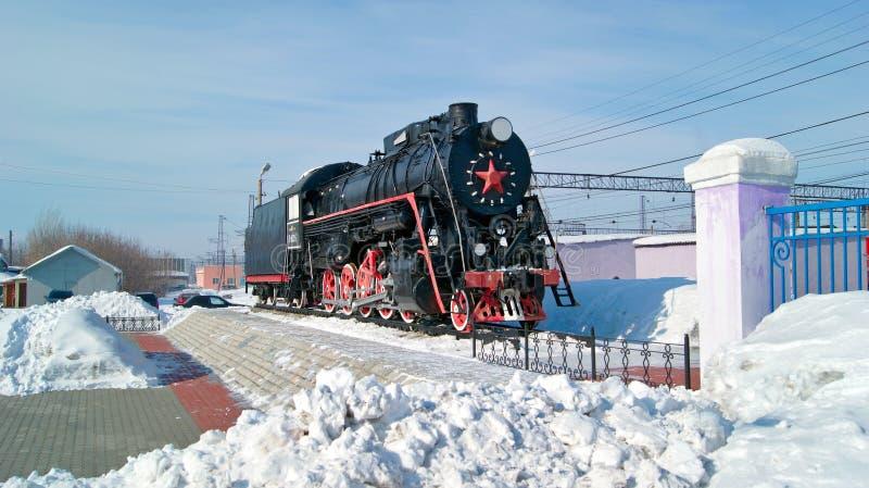 Russian mainline freight locomotive L-4305. Kamensk-Uralsky, Russia royalty free stock photos