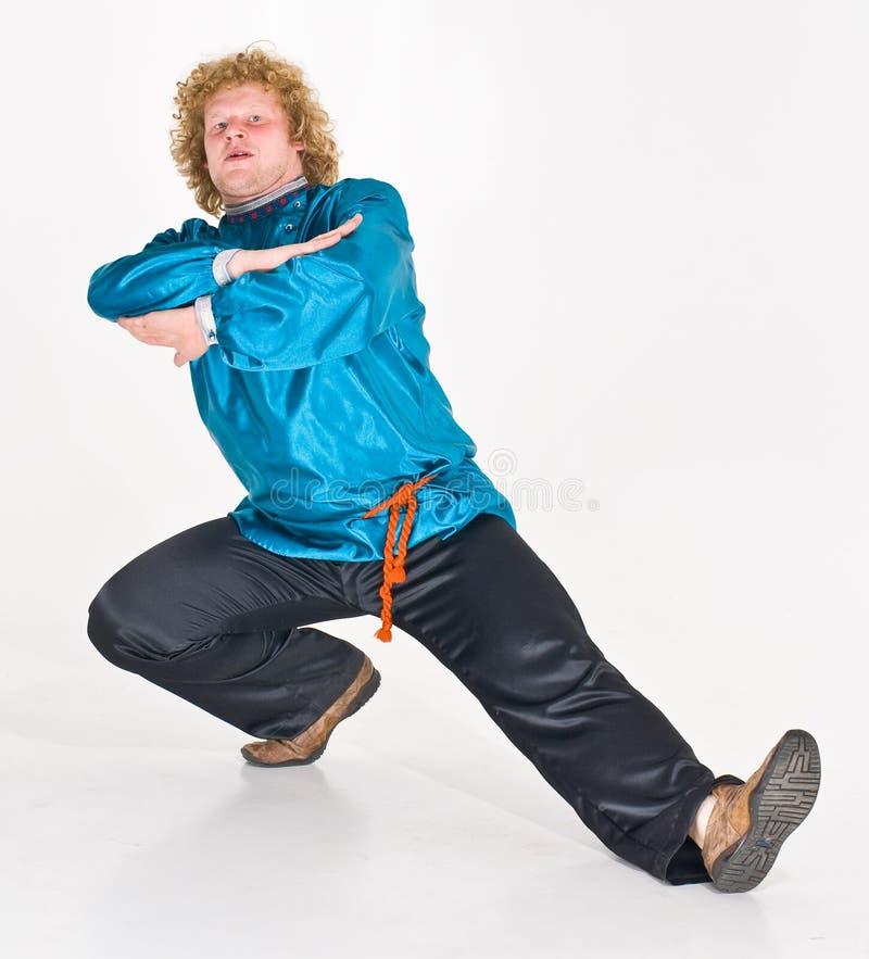Russian Man Dancing royalty free stock photos