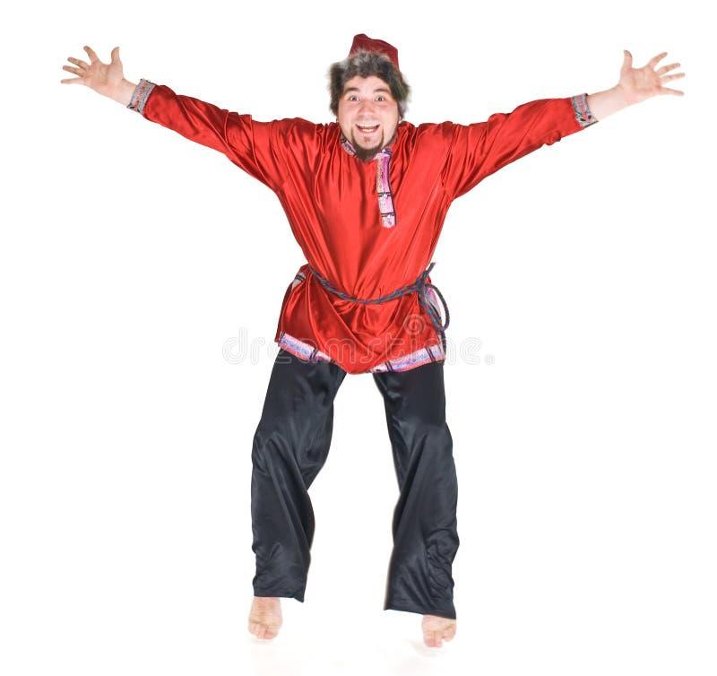 Russian man jumping royalty free stock photos