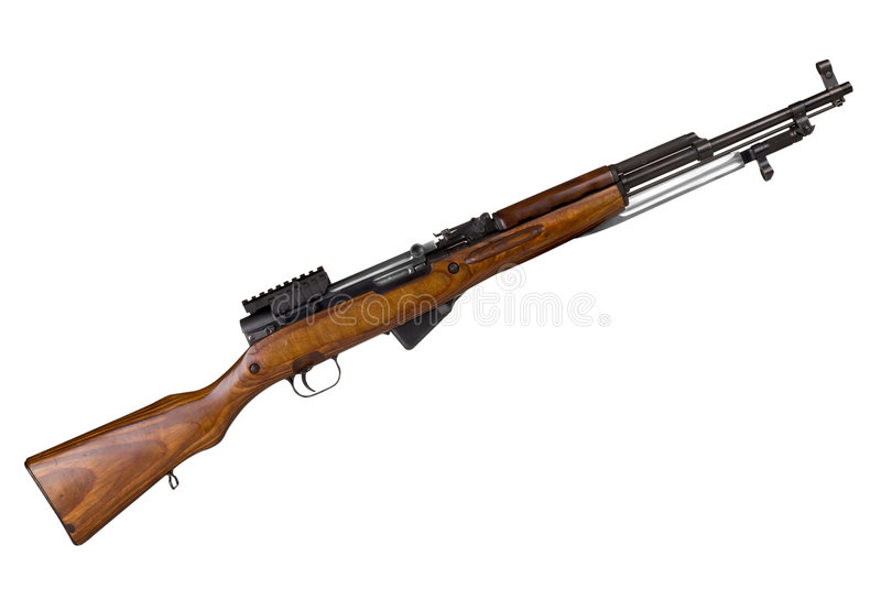 Russian Military Rifle royalty free stock images