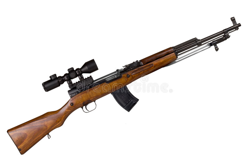 Russian Military Rifle stock photo