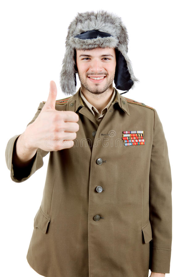 Russian military stock image