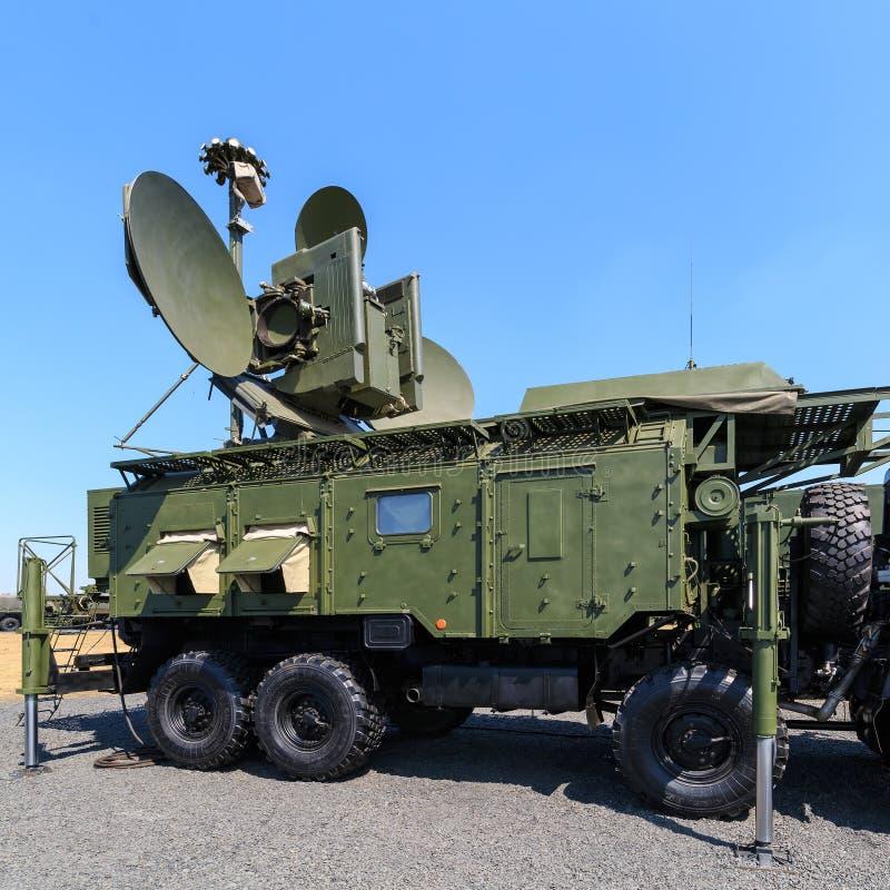 The Russian modern ground-based multifunctional electronic jamming module RB-271A Krasukha-4. KADAMOVSKIY TRAINING GROUND, ROSTOV REGION, RUSSIA, 26 AUGUST 2017 stock photography