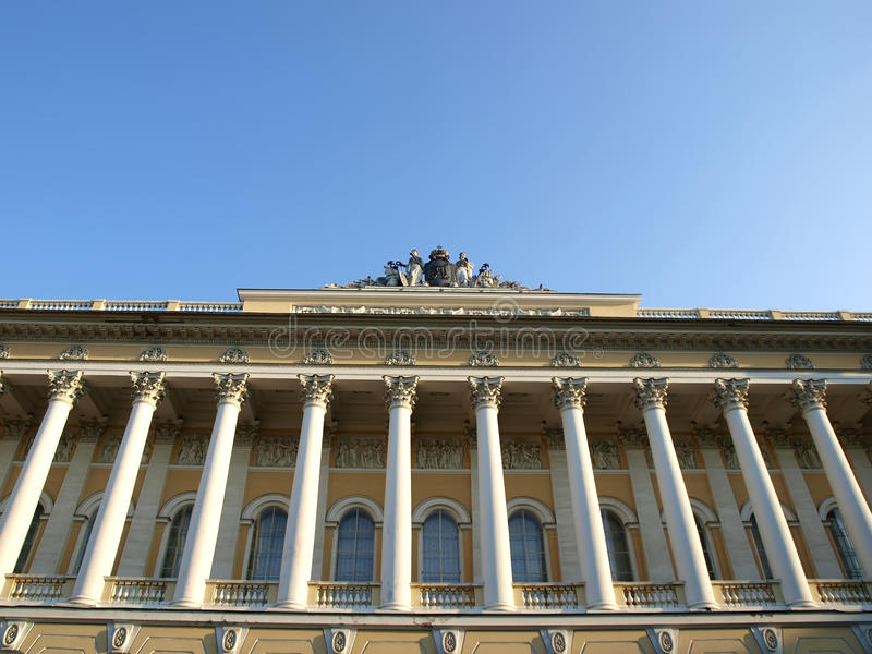 Russian museum in front view stock image