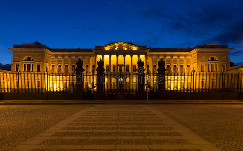 Russian Museum in White Nights. St. Petersburg, Russia royalty free stock photography